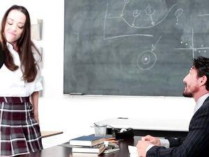 Schoolgirl Knows The Teacher Wants To Fuck Her