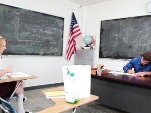 Schoolgirl Craves A Creampie From Her Sexy Teacher