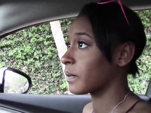 Big White Dick Invades Young Black Pussy In POV