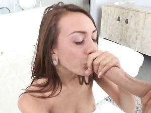 Great Blowjob From This Cock Craving Skinny Slut