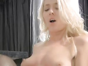 His Blonde GF Strips To Turn Him On And Get Laid