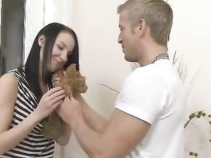 Driving Fingers And Big Cock Into Her Young Cunt