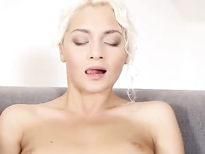 Turned On Blonde 18 Year Old Spreads And Masturbates