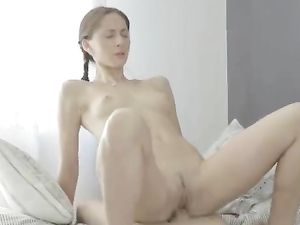 Meditating Teen Beauty Fucked By His Big Dick