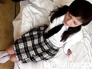 Anal Schoolgirl Butt Fucked In Close Up
