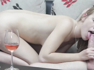 Couch Cock Riding And A Cum Shot For A Hot Blonde