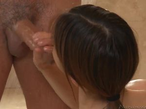 Wet And Soapy Handjob From An Asian Goddess