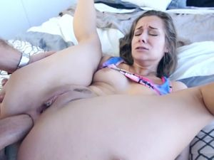 Big Cock Anal Fucking For The Cock Loving Brunette Slut