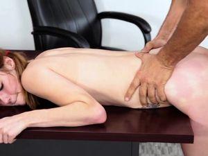 Teenage Schoolgirl Serves Teacher Cock In Class