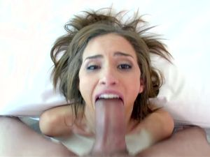 Natasha White Worships Big Cock With Her Sexy Lips
