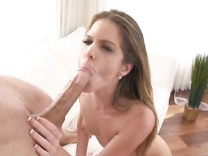 Teen On Top Of The Big Cock Rides It Lustily