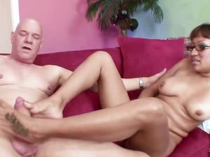 Footjob And Blowjob Lead To Pussy Pounding
