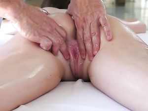 Cowgirl Brunette Riding A Stiff Long Dong
