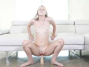 Hot Doggy For A Petite Blonde After Sucking