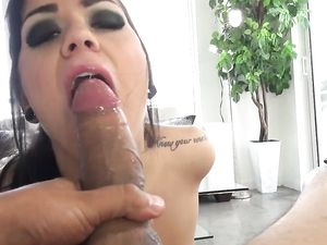 POV Blowjob And Cum In Mouth For Tattooed Hottie