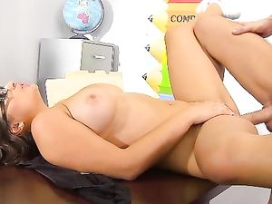 Schoolgirl Getting Her Pussy And Her Mouth Pounded